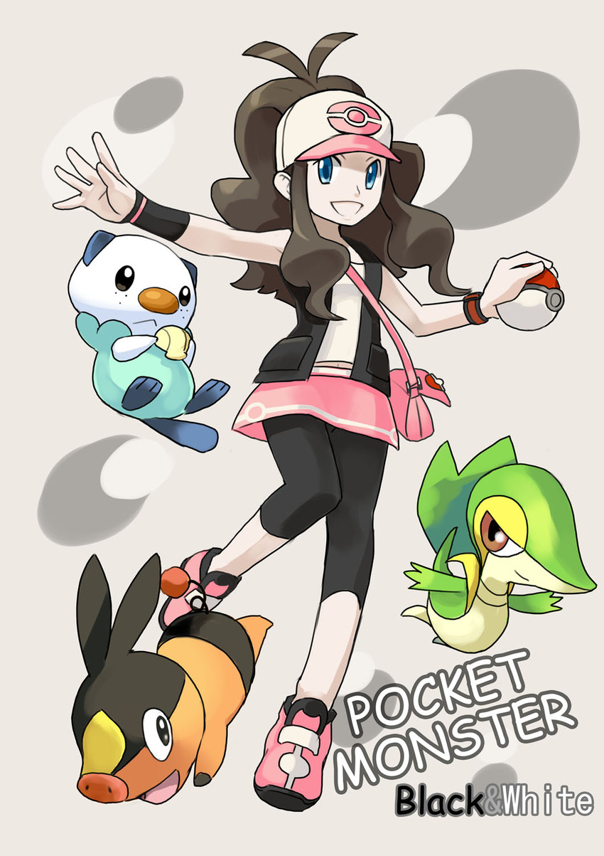 Oshawott Snivy Tepig And Touko Pokemon Game And Etc