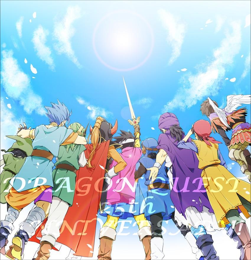 hero, hero, hero, hero, hero, and others (dragon quest, dragon quest i, dragon quest ii, dragon quest iii, dragon quest iv, and others) drawn by rim1010
