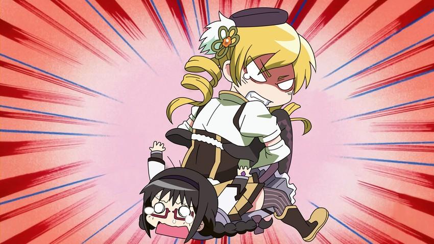 akemi homura and tomoe mami (mahou shoujo madoka magica and 1 more) drawn by g3pen