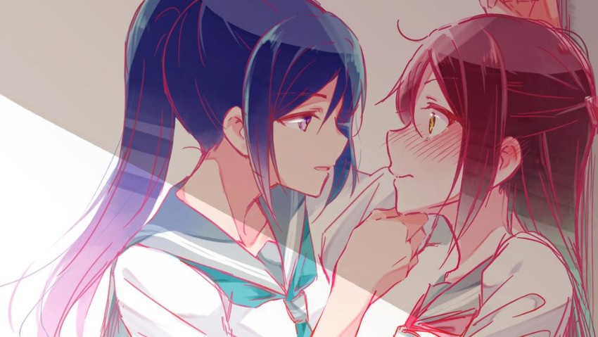 matsuura kanan and sakurauchi riko (love live! and love live! sunshine!!) drawn by toto (sa-dosama)