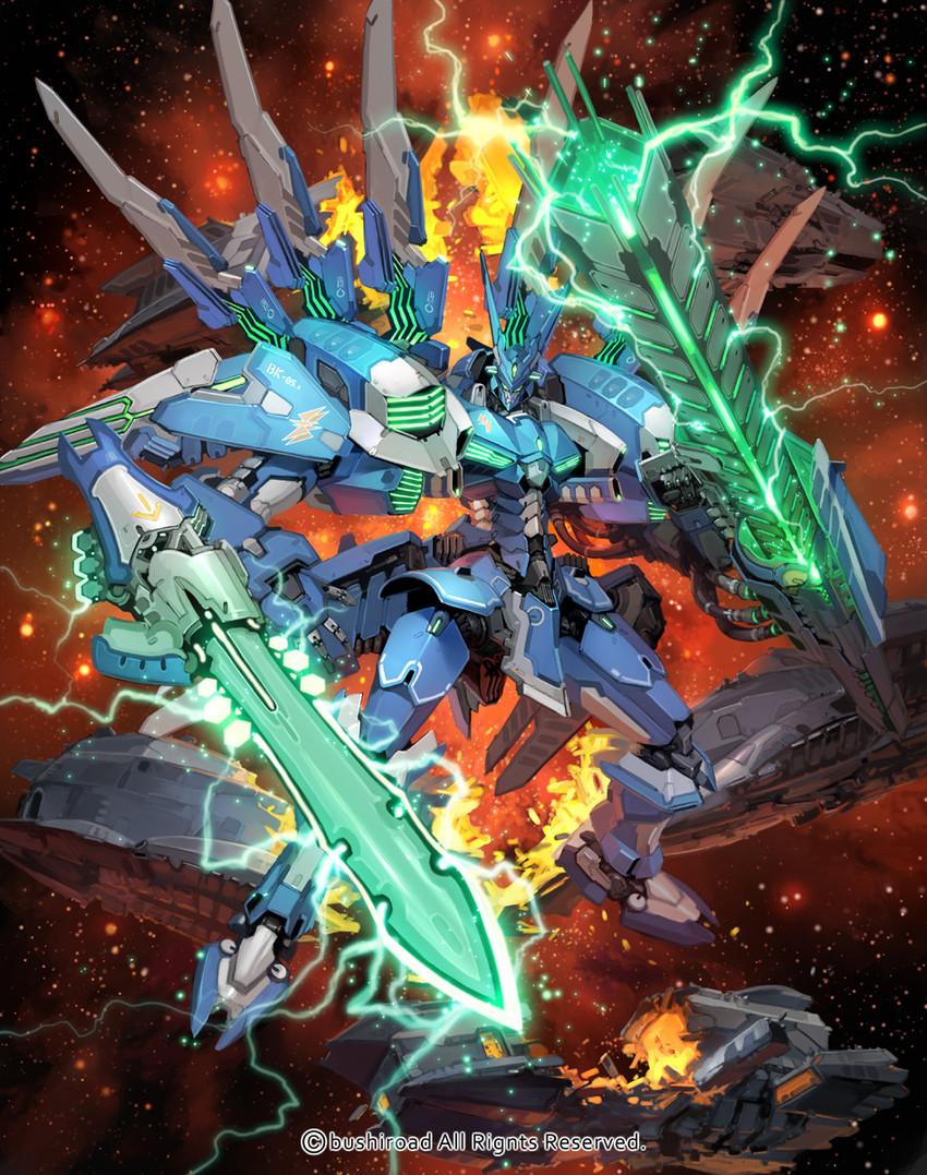 galaxy blaukluger (bushiroad and cardfight!! vanguard) drawn by takayama toshiaki