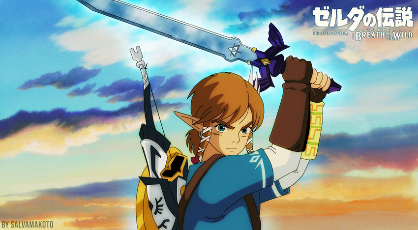 link (the legend of zelda and the legend of zelda: breath of the wild) drawn by salvamakoto