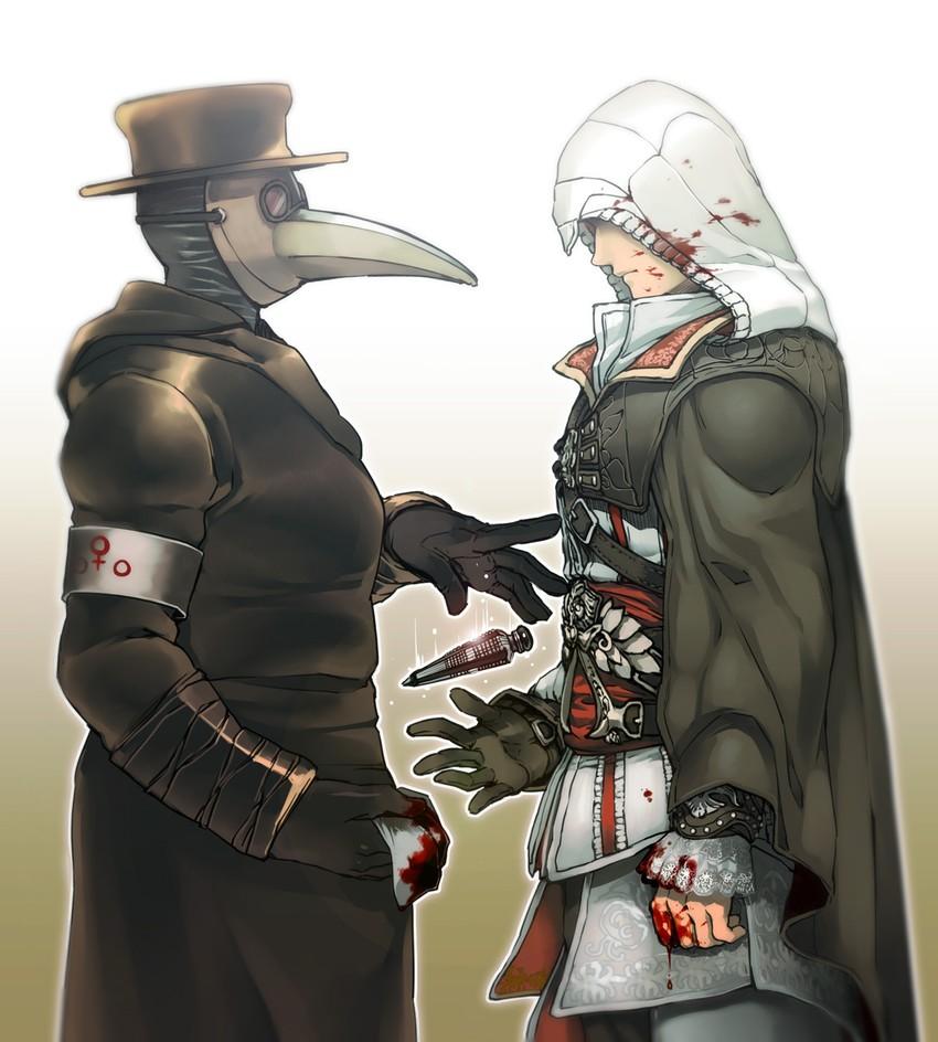 Ezio Auditore Da Firenze Assassin S Creed And 1 More Drawn By