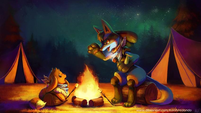 Eevee And Lucario Pokemon Drawn By Koriarredondo Danbooru