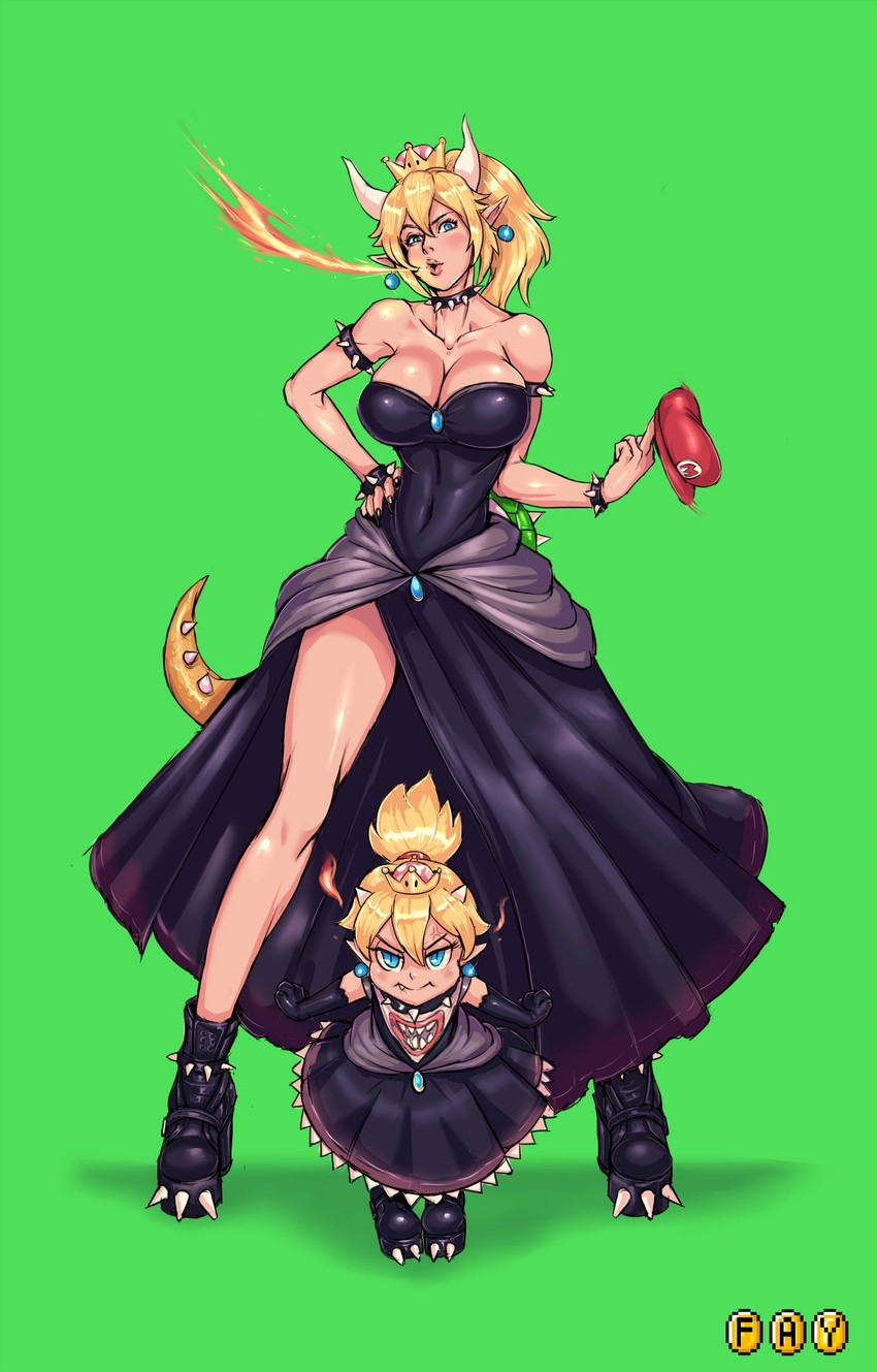 Bowsette And Bowsette Jr Mario Series New Super Mario