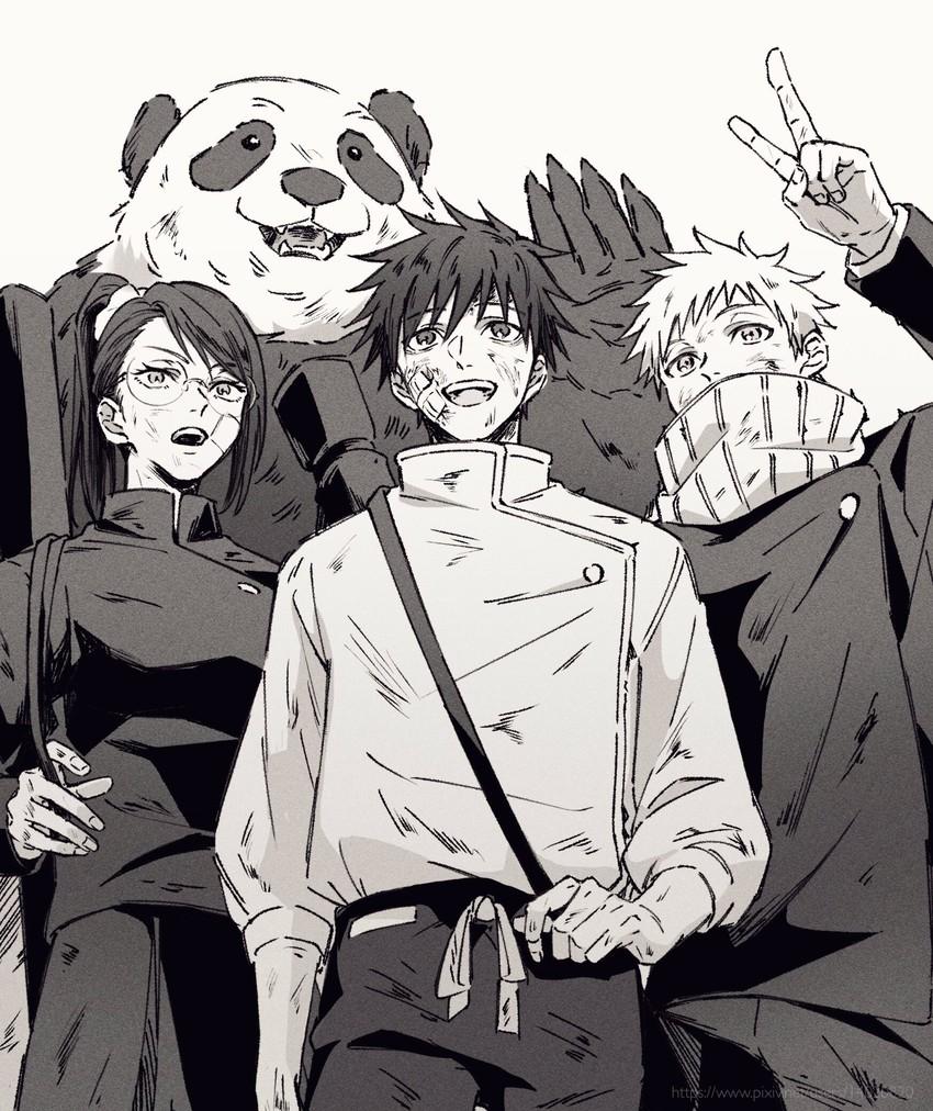 Zen In Maki Okkotsu Yuuta Inumaki Toge And Panda Jujutsu Kaisen Drawn By Saamon Dream81come Danbooru