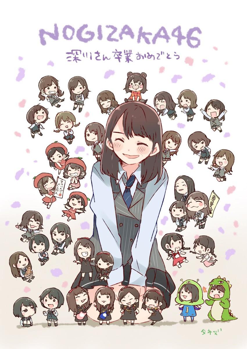 fukagawa mai (nogizaka46) drawn by taneda yuuta