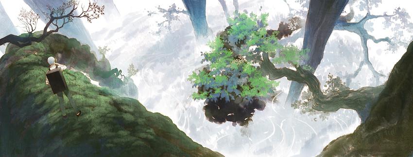 ginko (mushishi) drawn by hirokiku