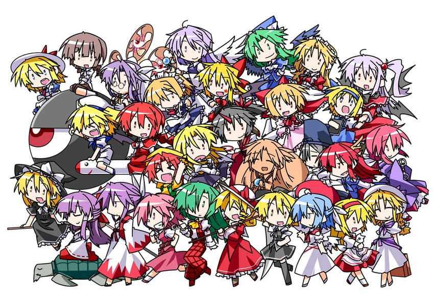 alice margatroid, alice margatroid, asakura rikako, ellen, elly, and others (highly responsive to prayers, lotus land story, mystic square, phantasmagoria of dim.dream, story of eastern wonderland, and others) drawn by hemogurobin a1c