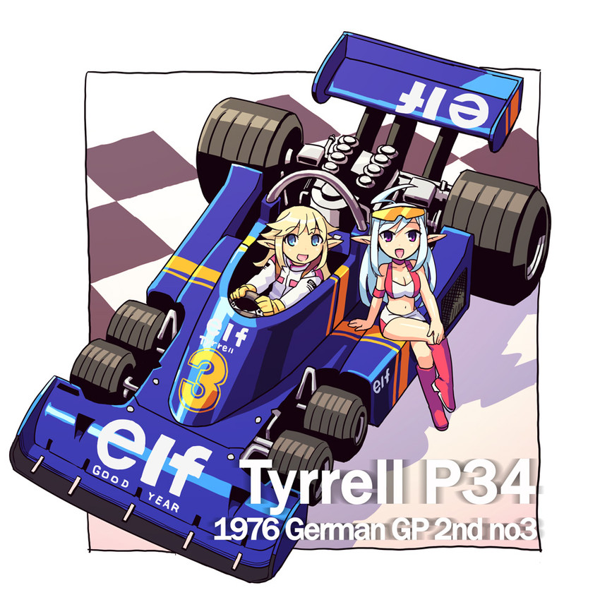 formula one and tyrrell drawn by chingisu