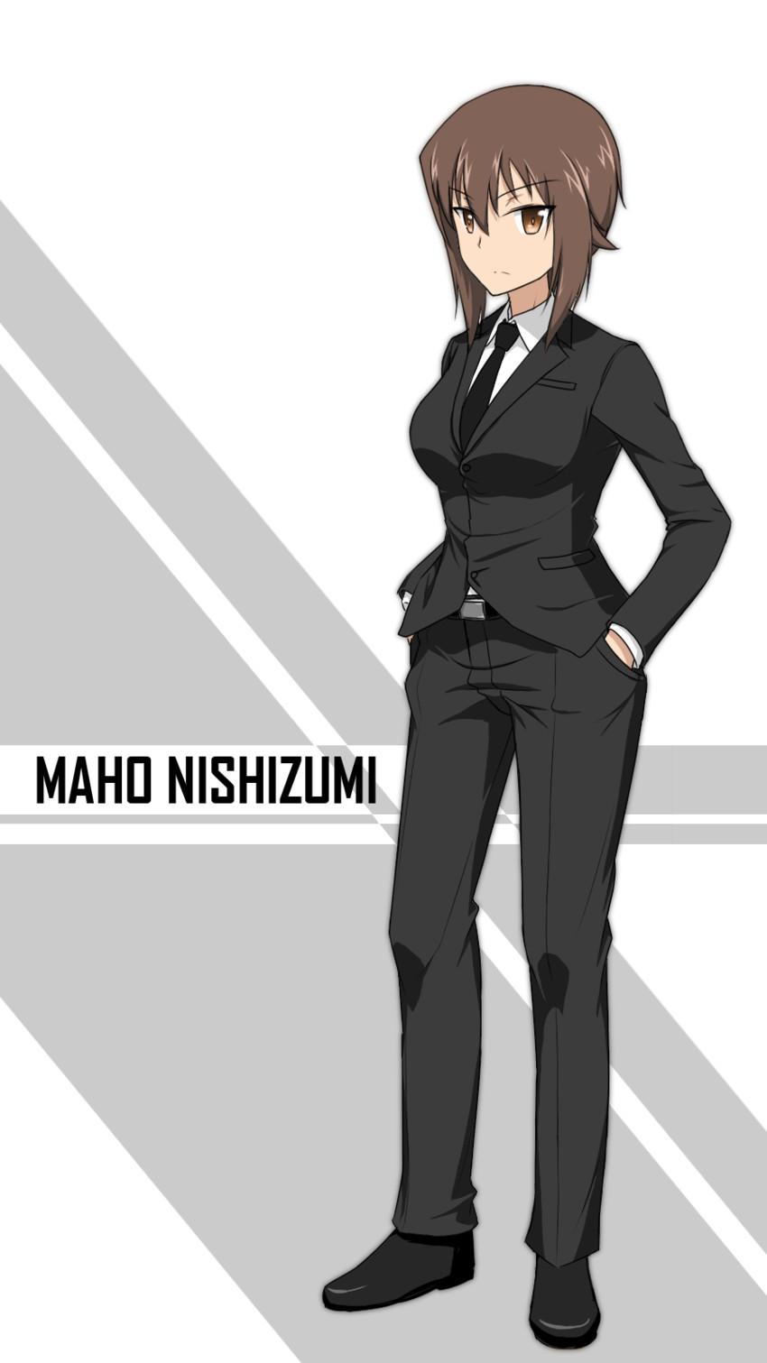 nishizumi maho (girls und panzer) drawn by dconan owo