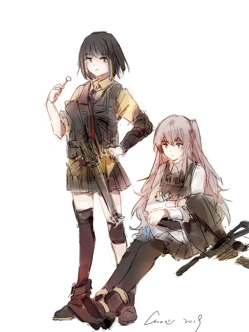 m16a1 and ump45 (girls frontline)