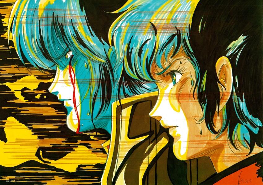 moruk lap lamiz and quamzin kravshera (choujikuu yousai macross and macross) drawn by mikimoto haruhiko