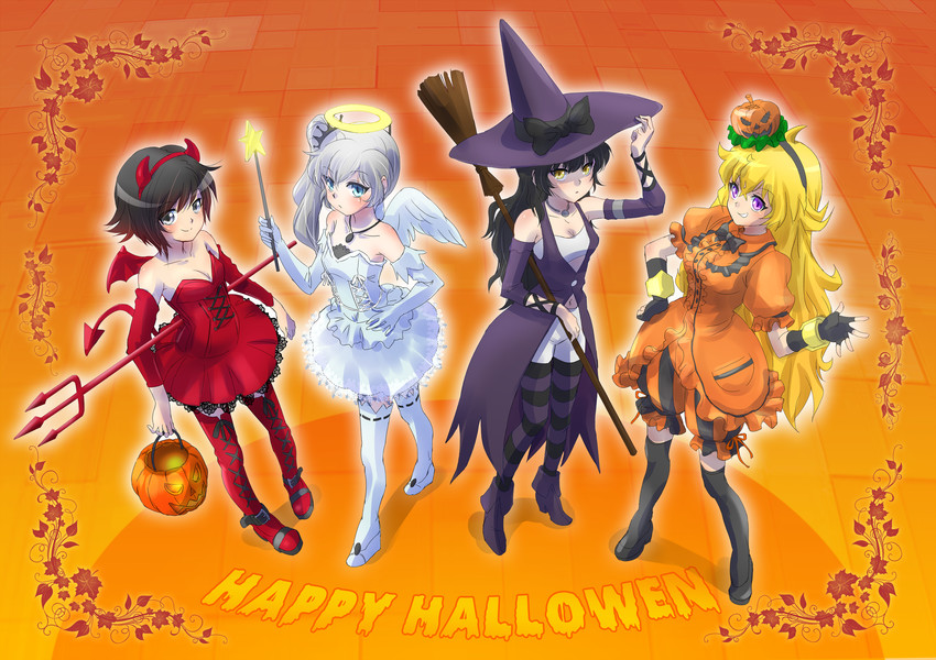 Blake belladonna ruby rose weiss schnee and yang xiao - Ruby rose rule 34 ...