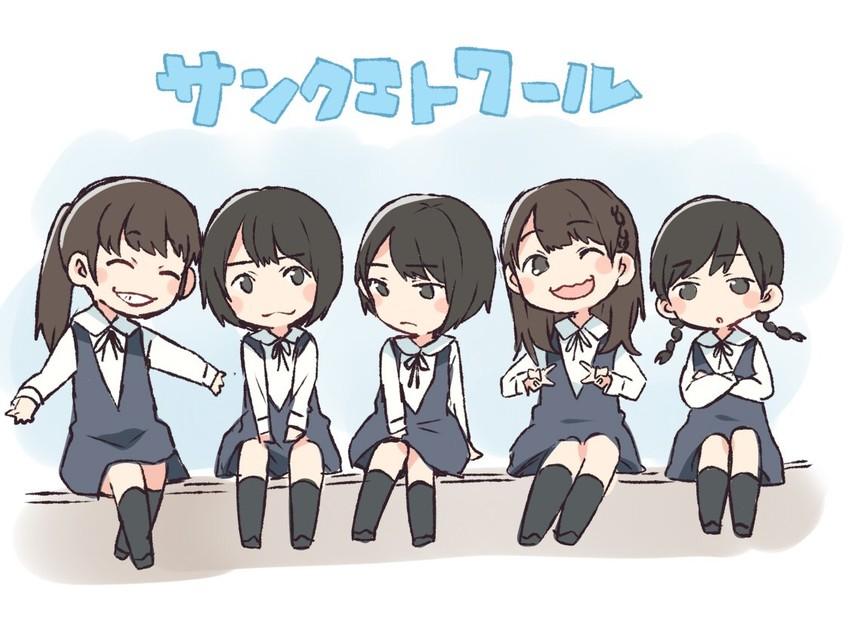 hori miona, kitano hinako, nakada kana, nakamoto himeka, and terada ranze (nogizaka46) drawn by taneda yuuta