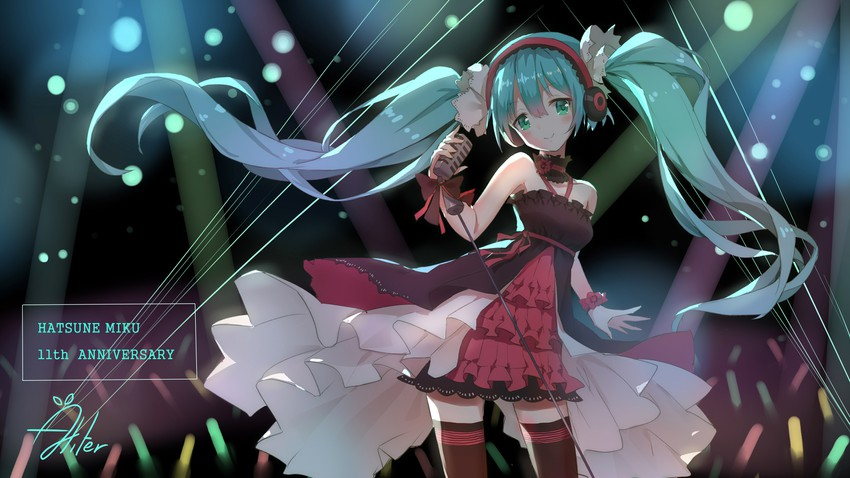 hatsune miku (7th dragon (series) and etc) drawn by aliter