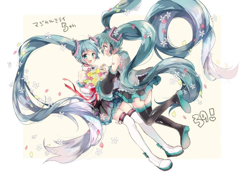 hatsune miku (magical mirai (vocaloid) and etc) drawn by zusan