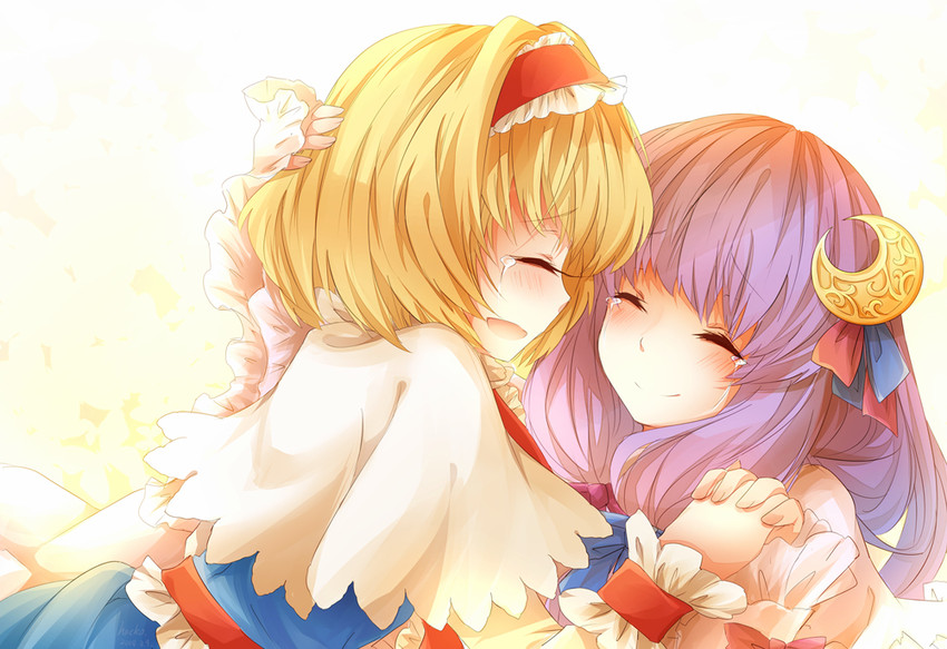 alice margatroid and patchouli knowledge (touhou) drawn by hacko