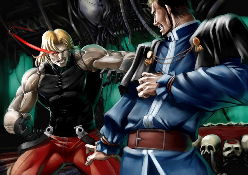 goenitz, omega rugal, and rugal bernstein (the king of fighters) drawn by munokojp
