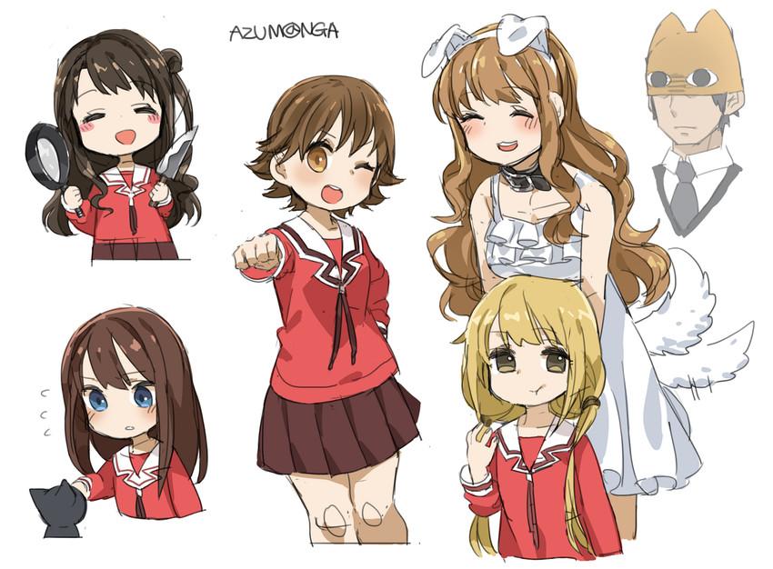 producer, moroboshi kirari, shimamura uzuki, tadakichi-san, chiyo chichi, and etc (idolmaster cinderella girls and etc) drawn by spawnfoxy