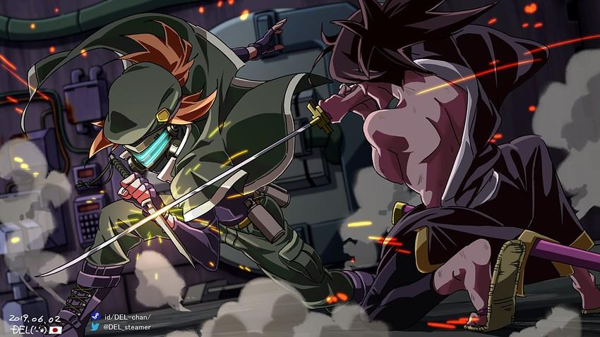 Zero And Headhunter Katana Zero Drawn By Del Danbooru