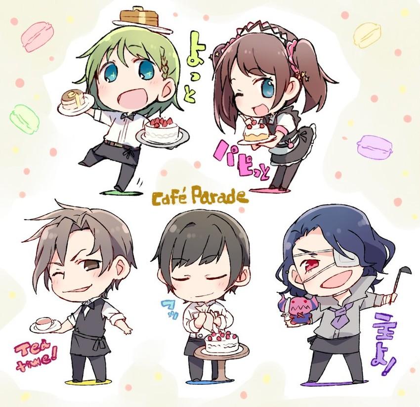 shinonome souichirou, satan, kamiya yukihiro, mizushima saki, asselin bb ii, and etc (idolmaster side-m and etc) drawn by taneda yuuta