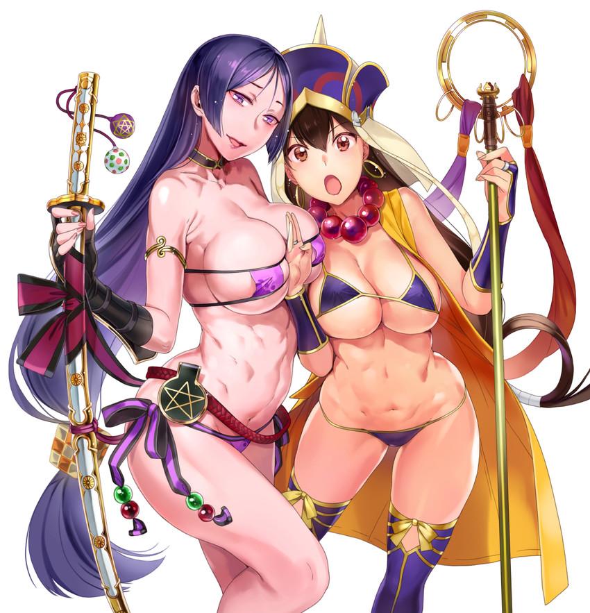 minamoto no raikou, minamoto no raikou, and xuanzang (fate/grand order and fate (series)) drawn by nekomata naomi