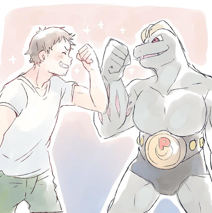 machoke (pokemon) drawn by taneda yuuta