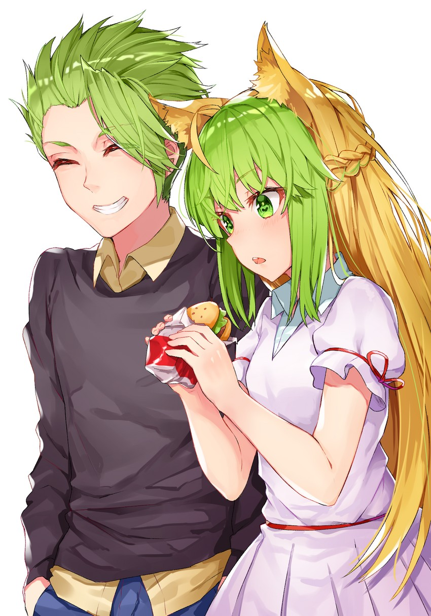 achilles and atalanta (fate/apocrypha and etc) drawn by black cola