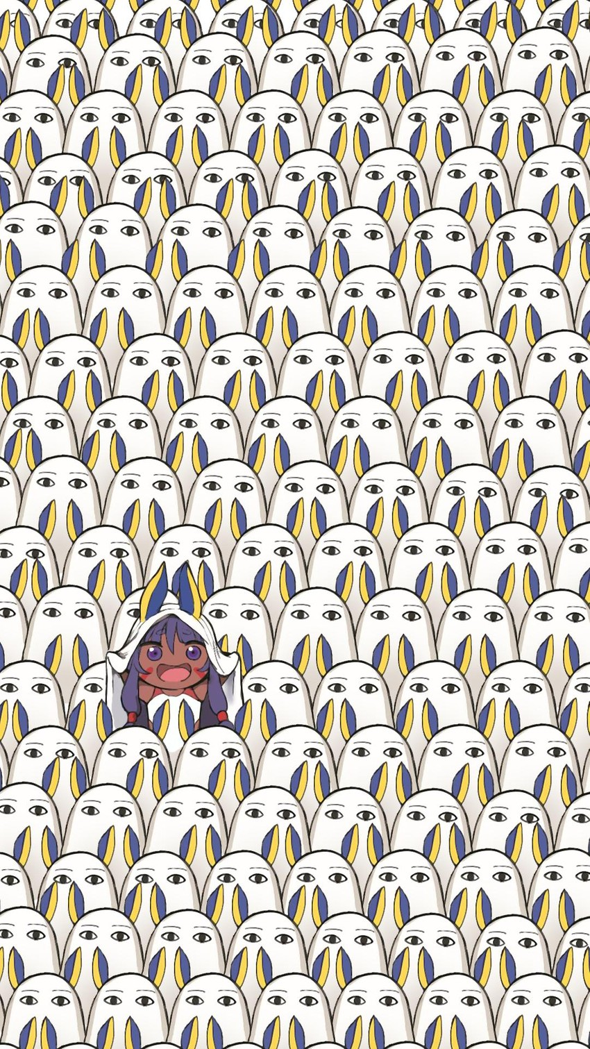 medjed, nitocris, and nitocris (himouto! umaru-chan and etc) drawn by hews hack