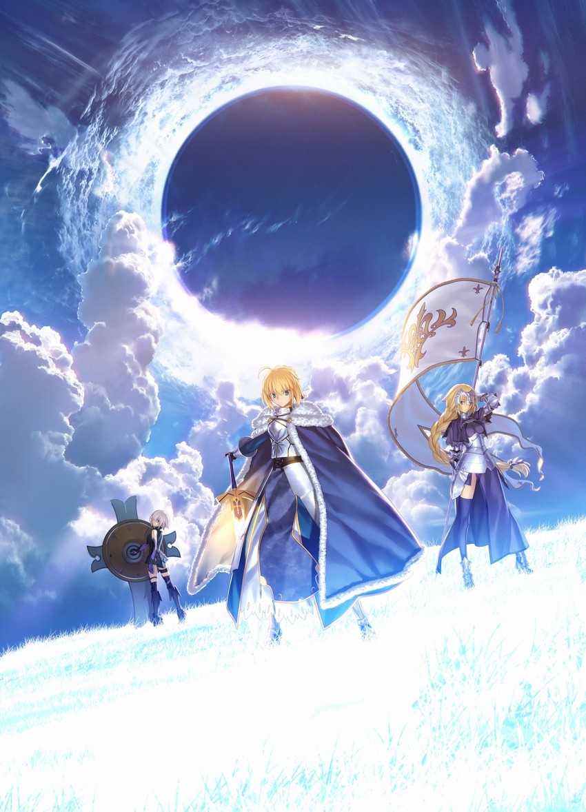 artoria pendragon, jeanne d'arc, jeanne d'arc, mash kyrielight, and saber (fate/apocrypha, fate/grand order, fate/stay night, and fate (series)) drawn by takeuchi takashi