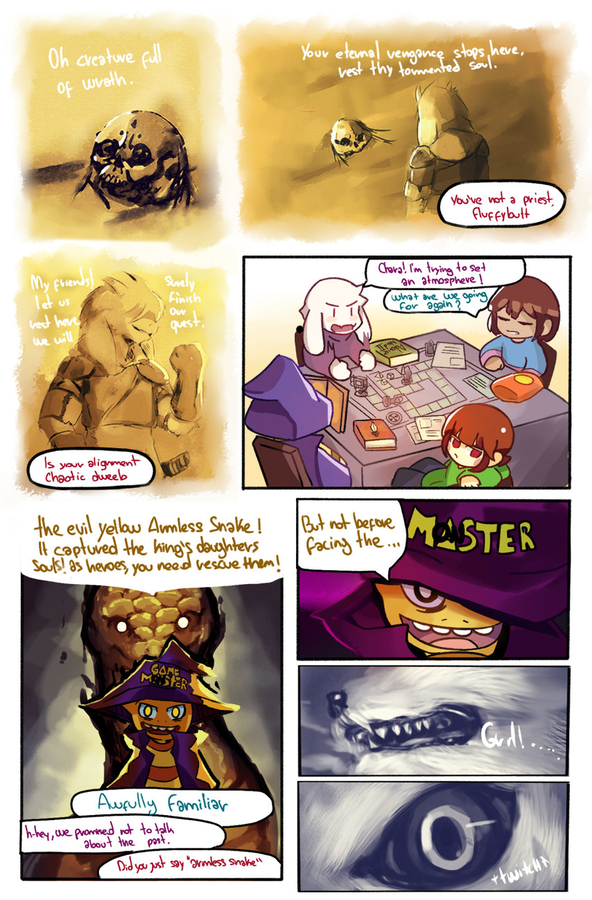 Asriel Dreemurr Comic frisk, chara, asriel dreemurr, mettaton, monster kid, and 1