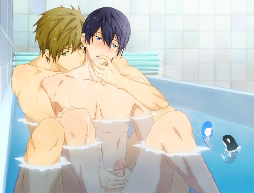 фото аниме голые парни
