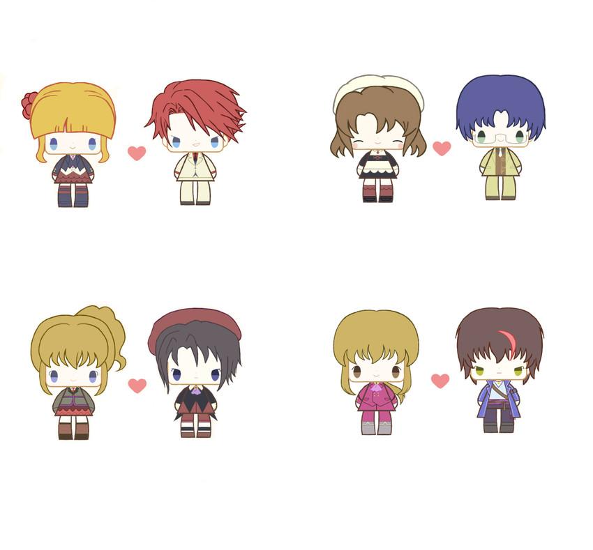 beatrice, kanon, shannon, ushiromiya battler, ushiromiya george, and others (umineko no naku koro ni) drawn by ichigo kocha