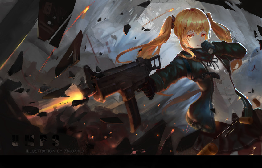 El sol y las mellizas. Bienvenidos a Super Smash Bros (Privado Sayu - kumi)  __ump9_girls_frontline_drawn_by_xiaoxiao__sample-ddaa30371ad49503cb77c219735e4b56