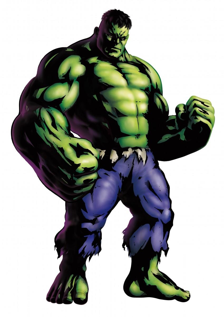 bruce banner and hulk (marvel vs. capcom and marvel vs. capcom 3) drawn by mori toshiaki