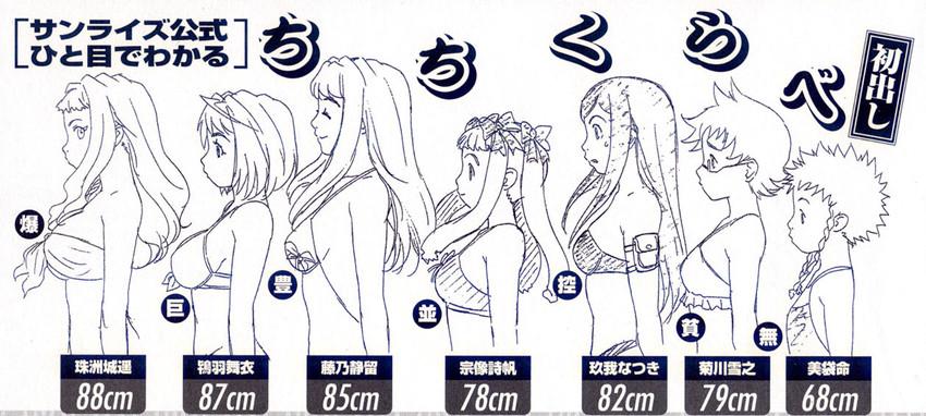 fujino shizuru, kikukawa yukino, kuga natsuki, minagi mikoto, munakata shiho, and others (megami and my-hime)