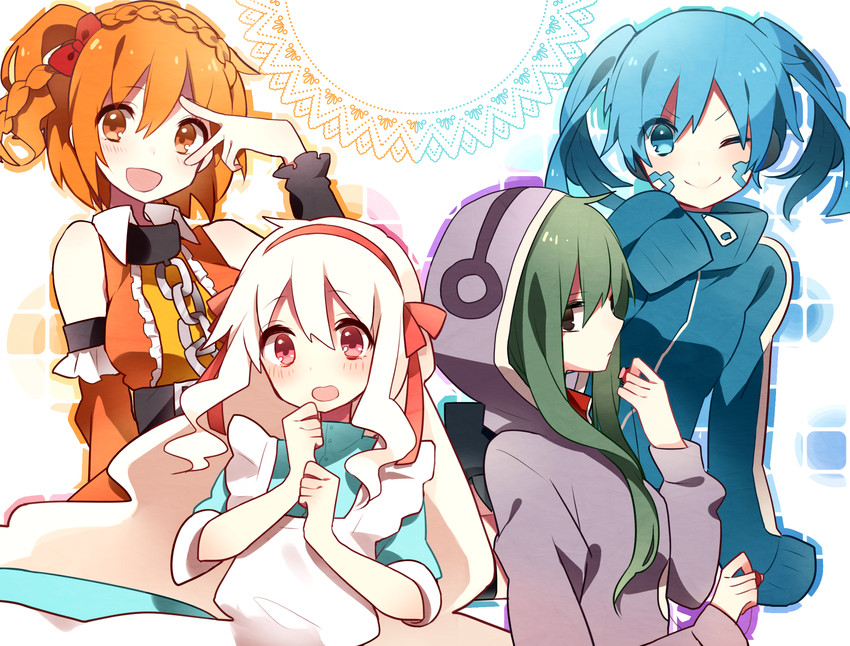 ene, kido tsubomi, kisaragi momo, and kozakura marry (kagerou project) drawn by manio