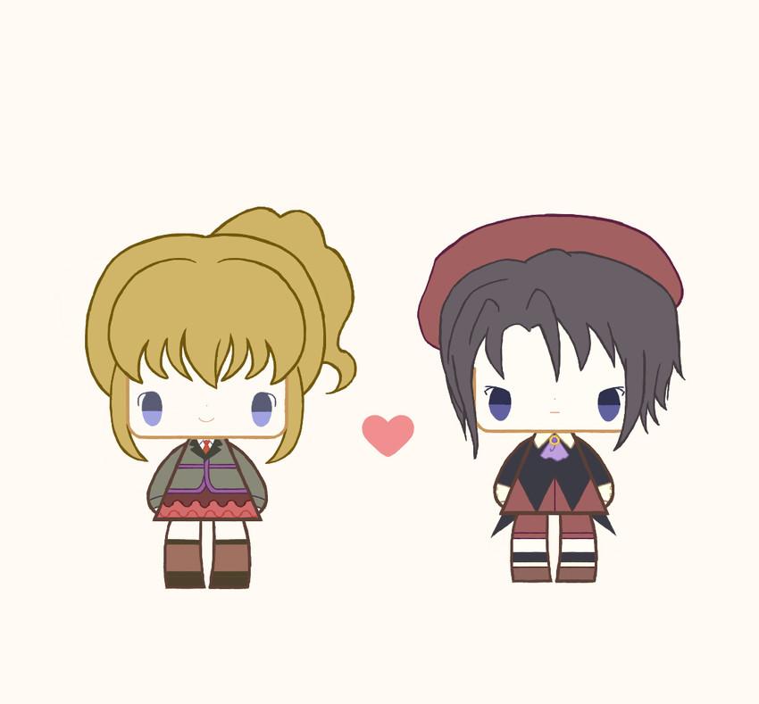 kanon and ushiromiya jessica (umineko no naku koro ni) drawn by ichigo kocha