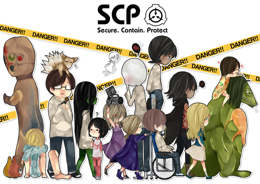 scp-076-2, scp-173, scp-682, scp-073, scp-999, and 11 more (scp foundation) drawn by seriko_(seo77000)