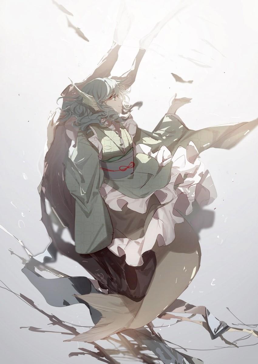 wakasagihime (touhou) drawn by no-kan