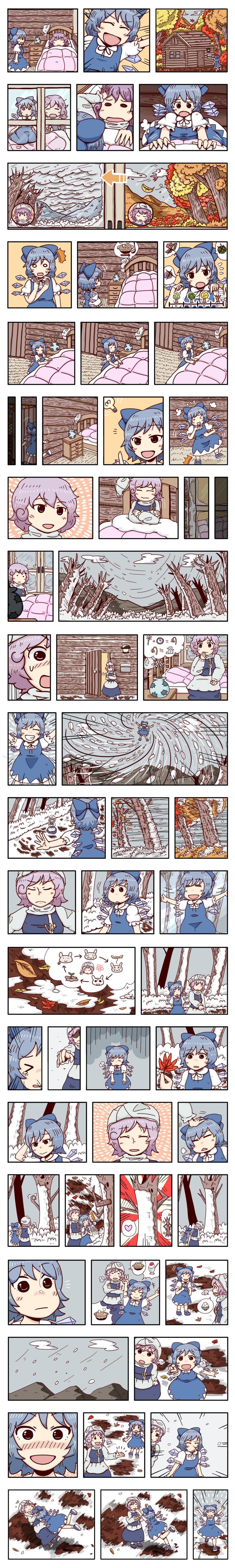 cirno and letty whiterock (touhou) drawn by jiru (jirufun)