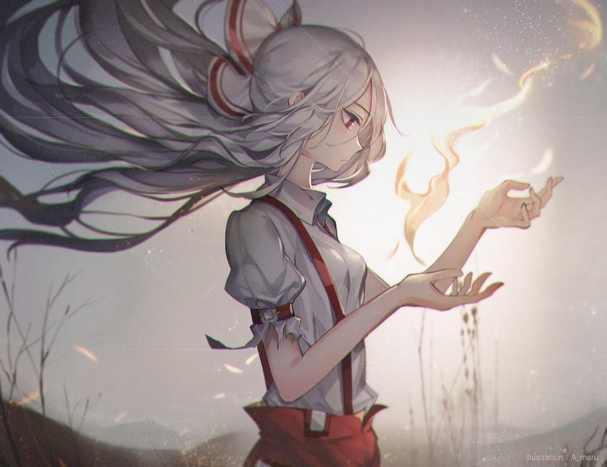fujiwara no mokou (touhou) drawn by unity (ekvmsp02)