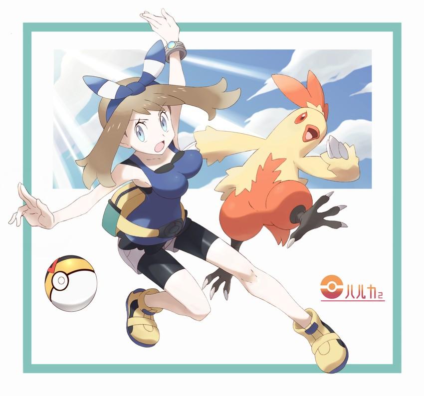 combusken and haruka (pokemon (game) and etc) drawn by nomura (buroriidesu)