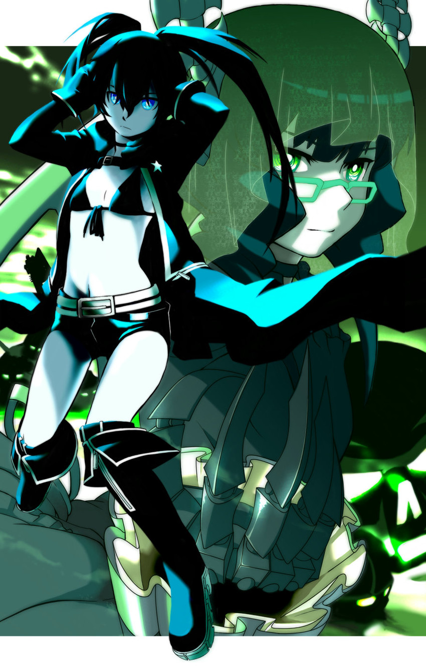 black rock shooter and dead master (black rock shooter) drawn by m-da s-tarou