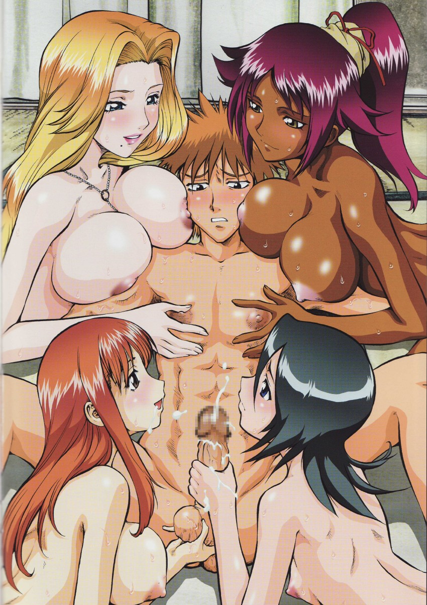Sexy bleach girls showing pussy