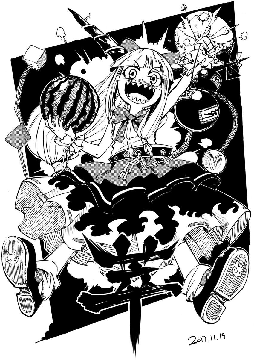 ibuki suika (touhou and 1 more) drawn by heran_hei_mao
