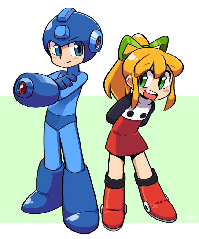 rockman and roll (rockman (classic) and etc) drawn by lkll