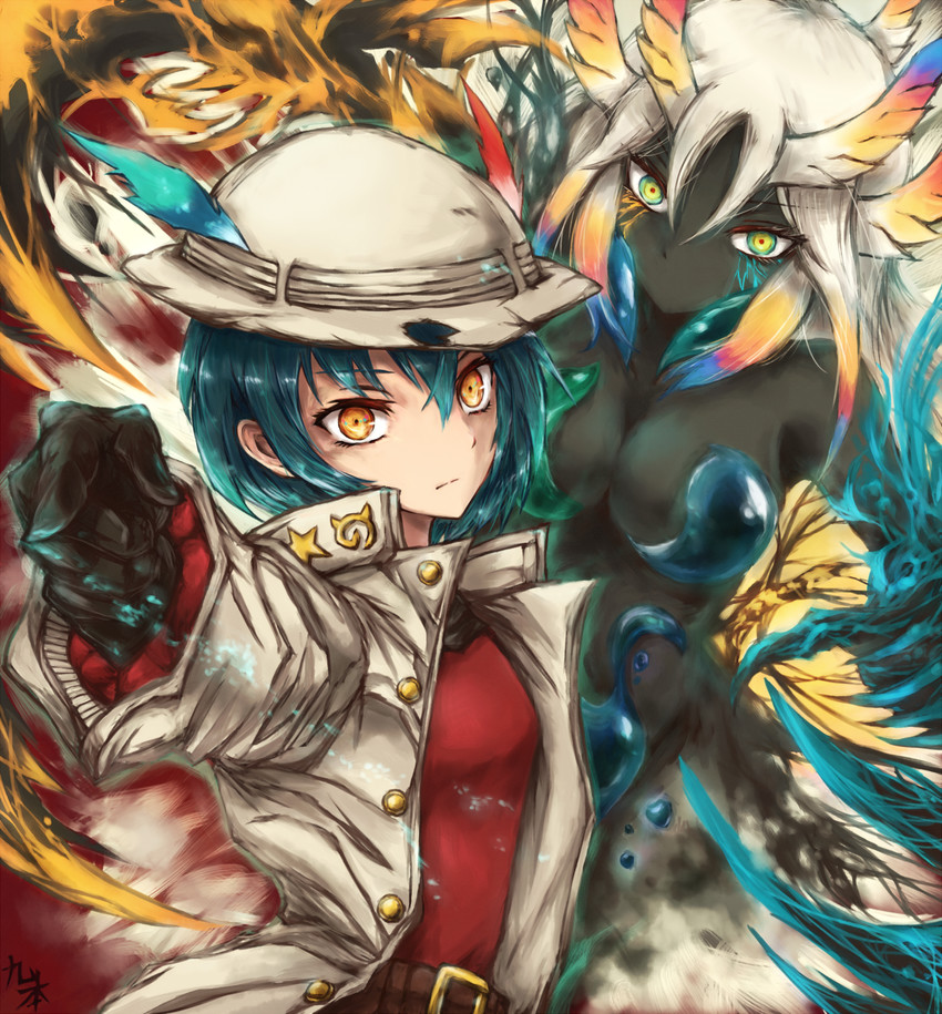 cerulean queen, kaban, kako, and kuujou joutarou (jojo no kimyou na bouken and etc) drawn by kyuumoto kuku